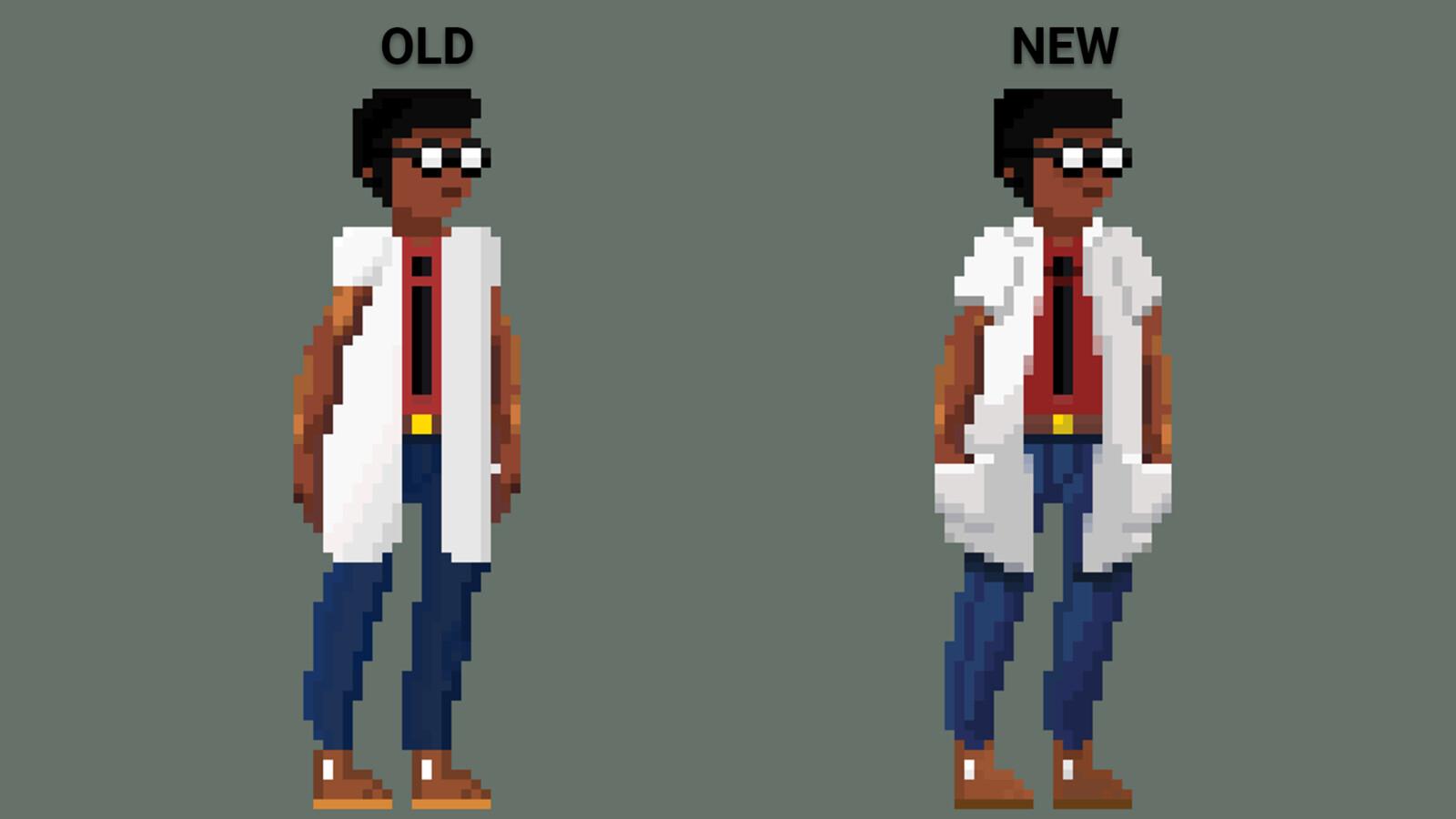 Comparison of the old version vs the new.