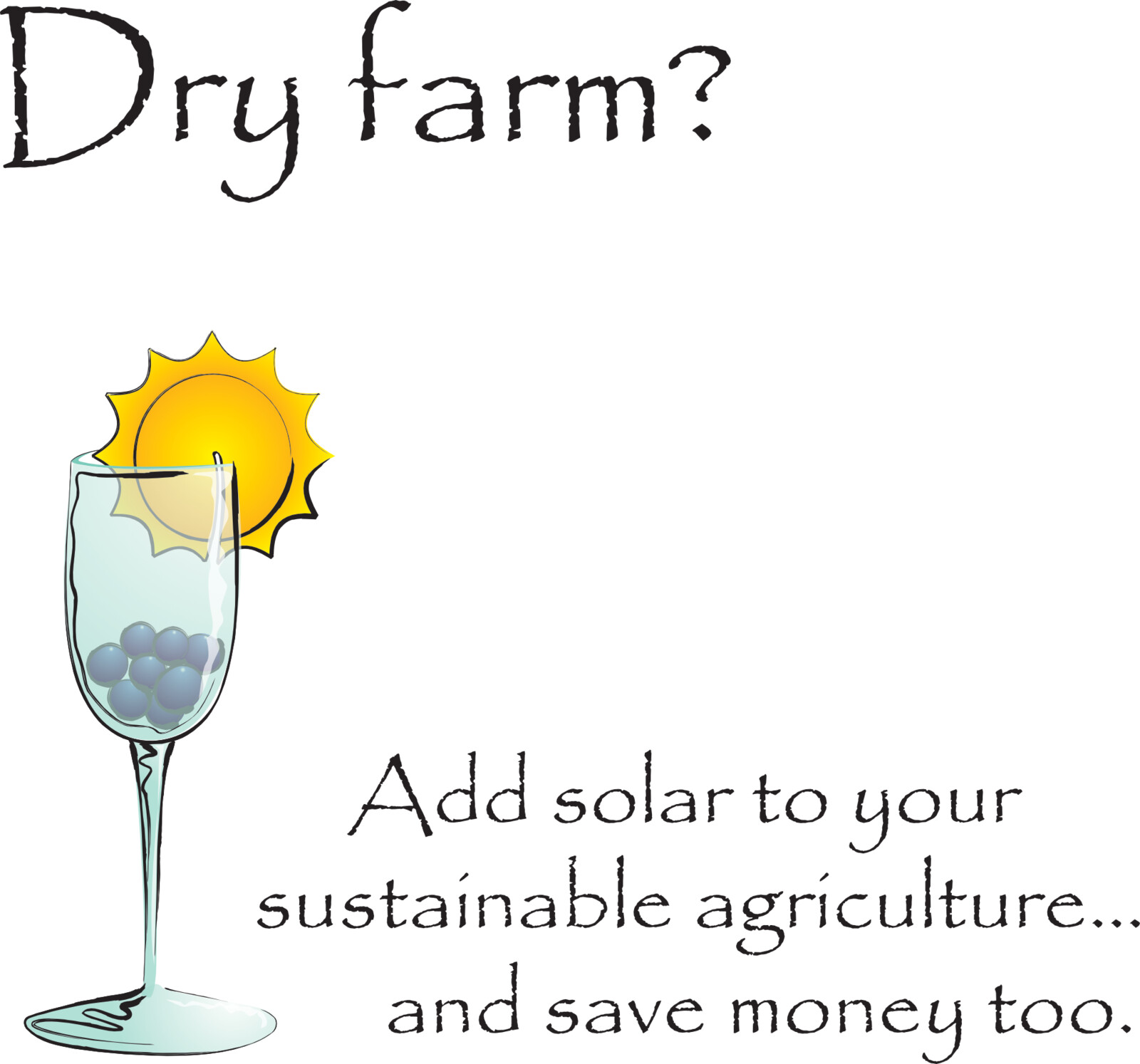Icon (and balance of marketing imagery) for marketing the same solar contractor to sustainable wineries.