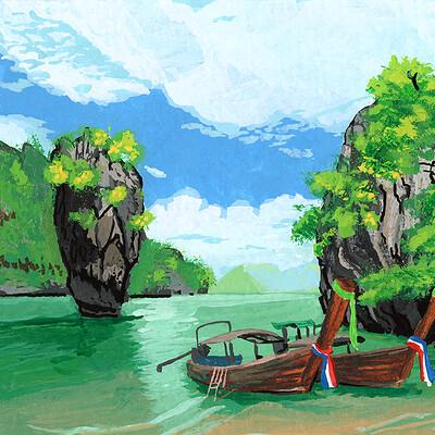 Sean mcnally somewherenothere thailand longboat sd