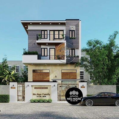 Neohouse architecture biet thu hien dai 3 tang 2