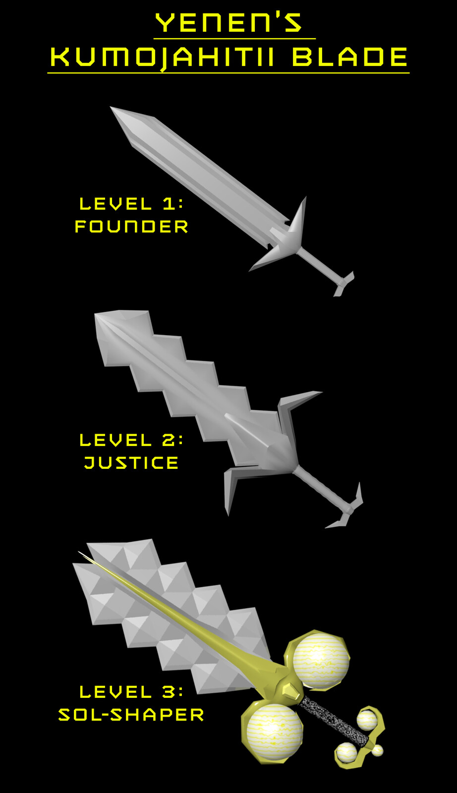 Kumojahitii Blade (Various Forms)