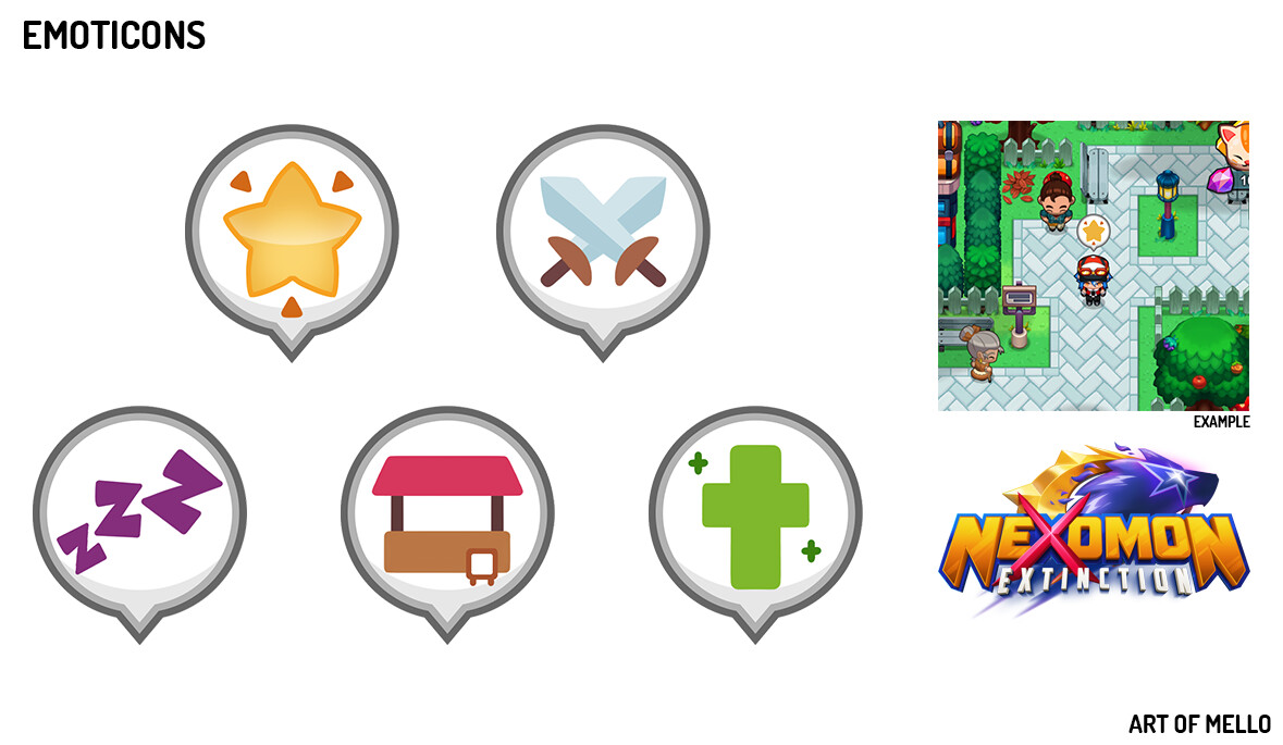 Nexomon Emoticon Designs