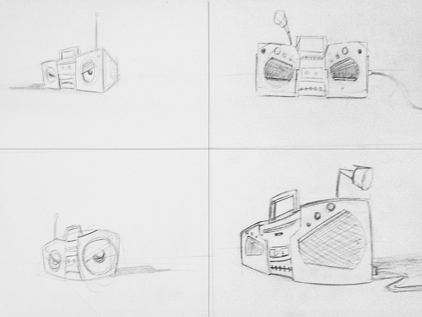 Angry Boombox Sketch