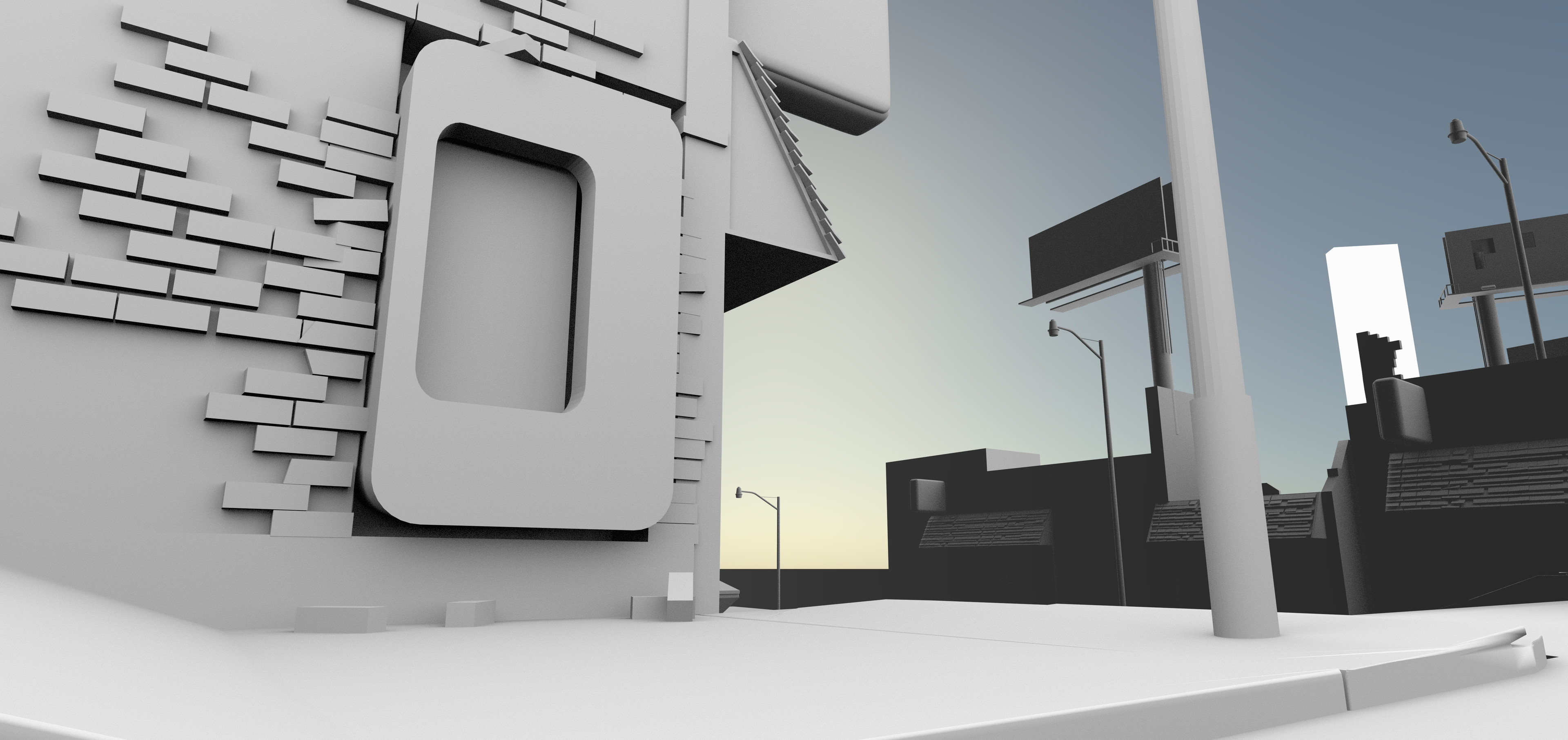rough block out. As simple as this is, I realize that I probably overbuilt my assets by quite a bit.