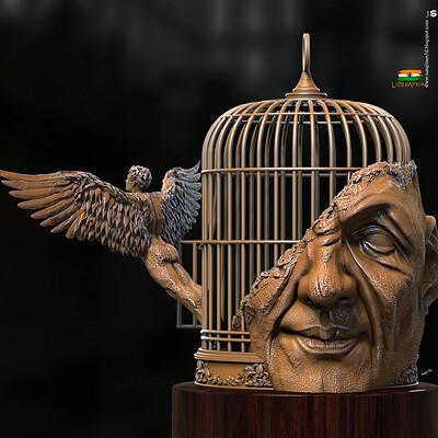 Surajit sen liberation digital sculpture surajitsen 15th aug 2020a