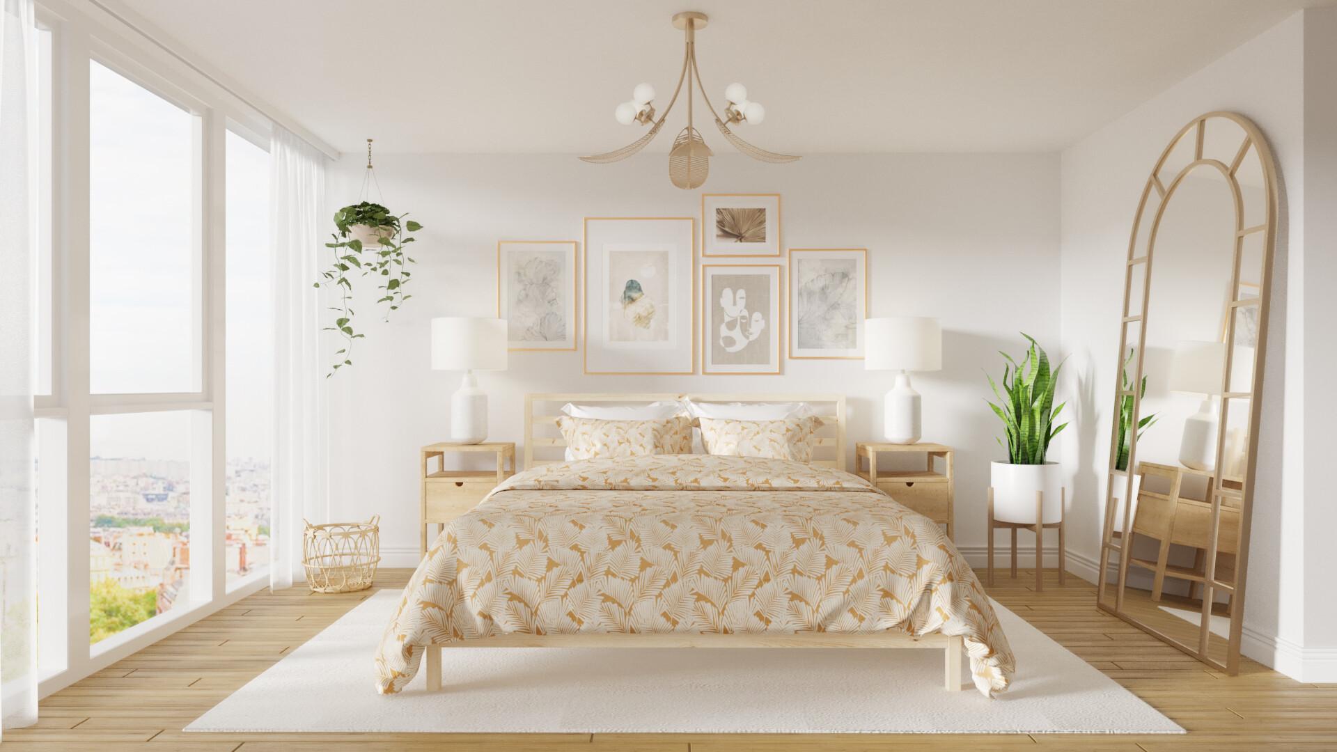Artstation Modern Boho Bedroom Martyna Grek