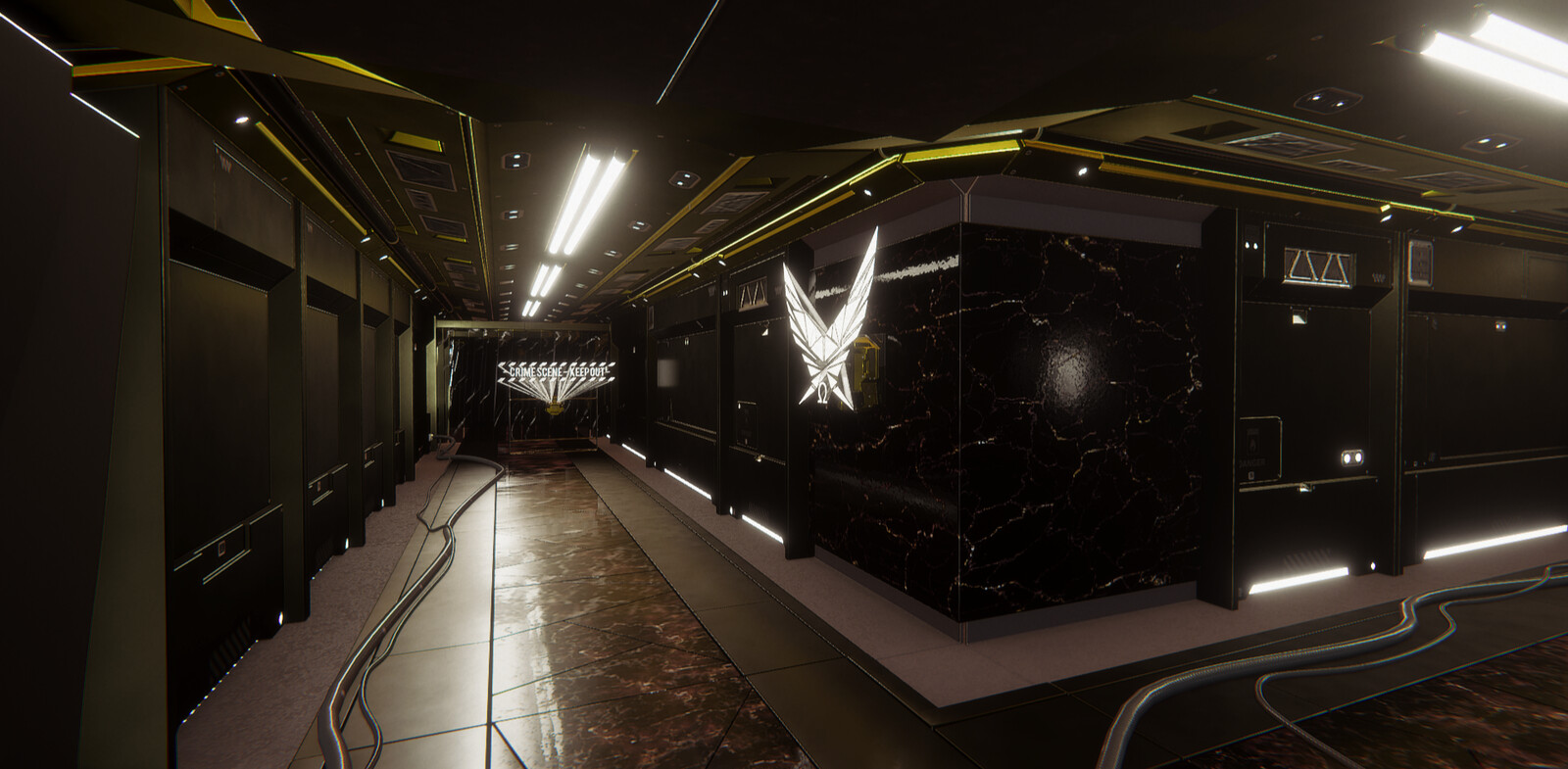 Science Fiction Corridor in Unity - HDRP