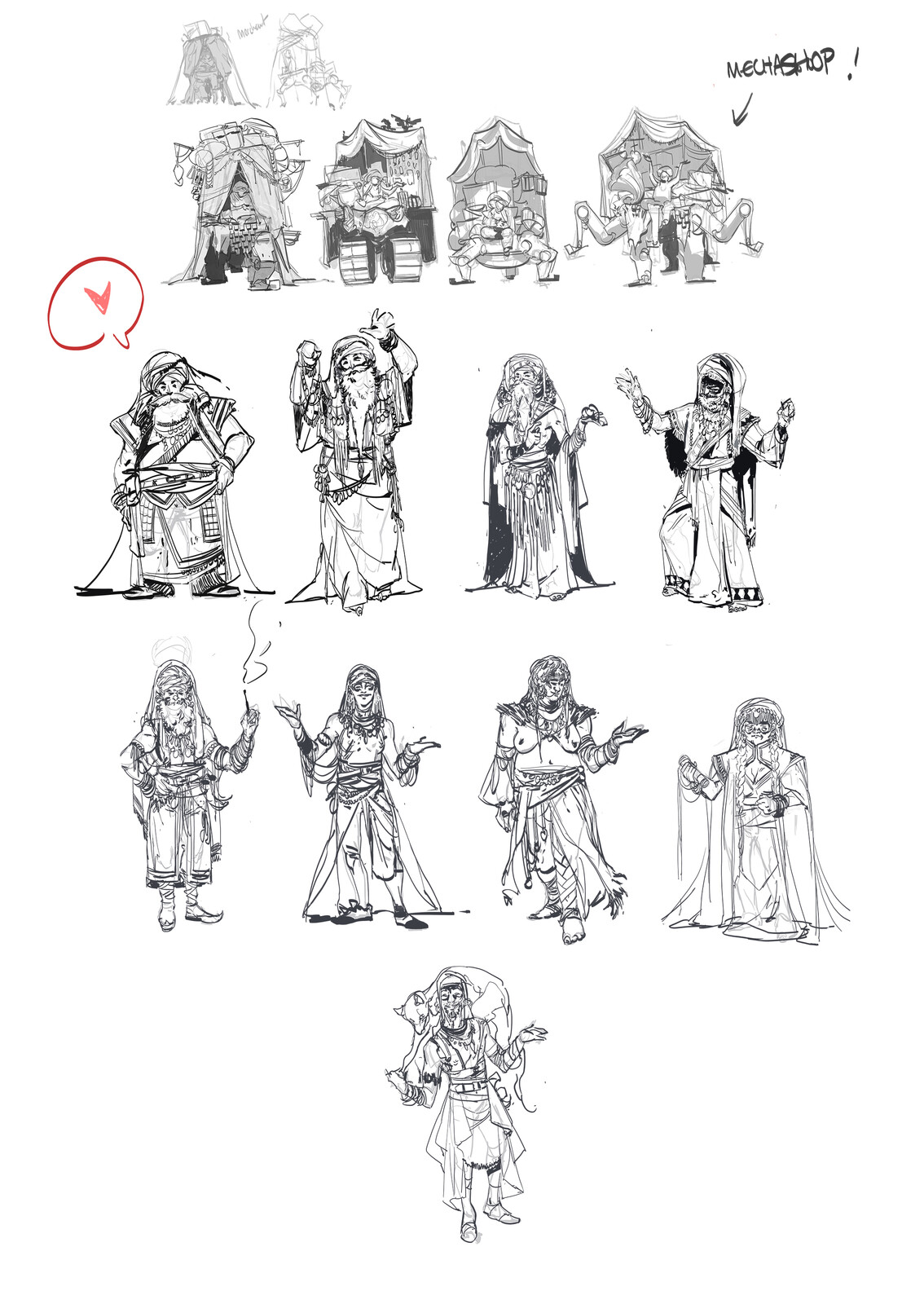 Some of the previous sketches.
