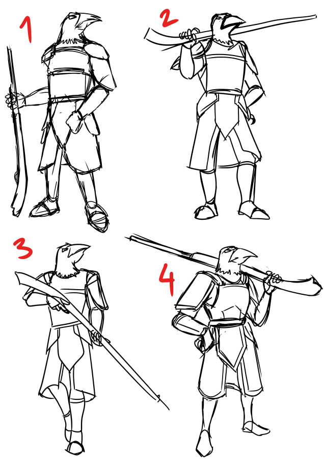 Some initial rough sketches