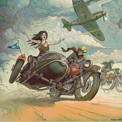 Ignacio bazan lazcano artofmotorcycling illustrationlowres