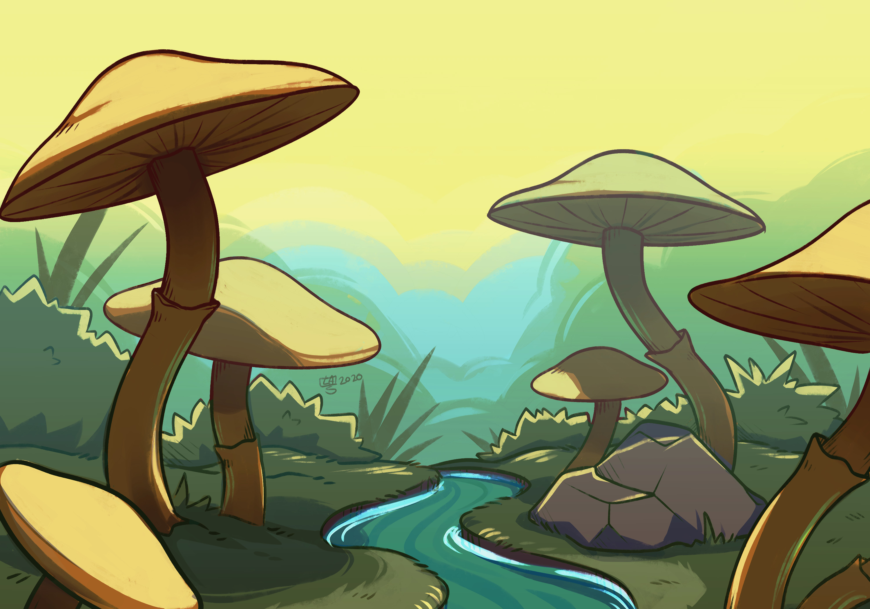 Stylized Environment - Mushroom stream