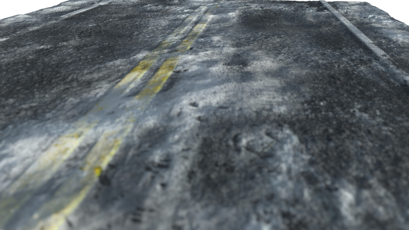 Snowy Road Substance Designer Material