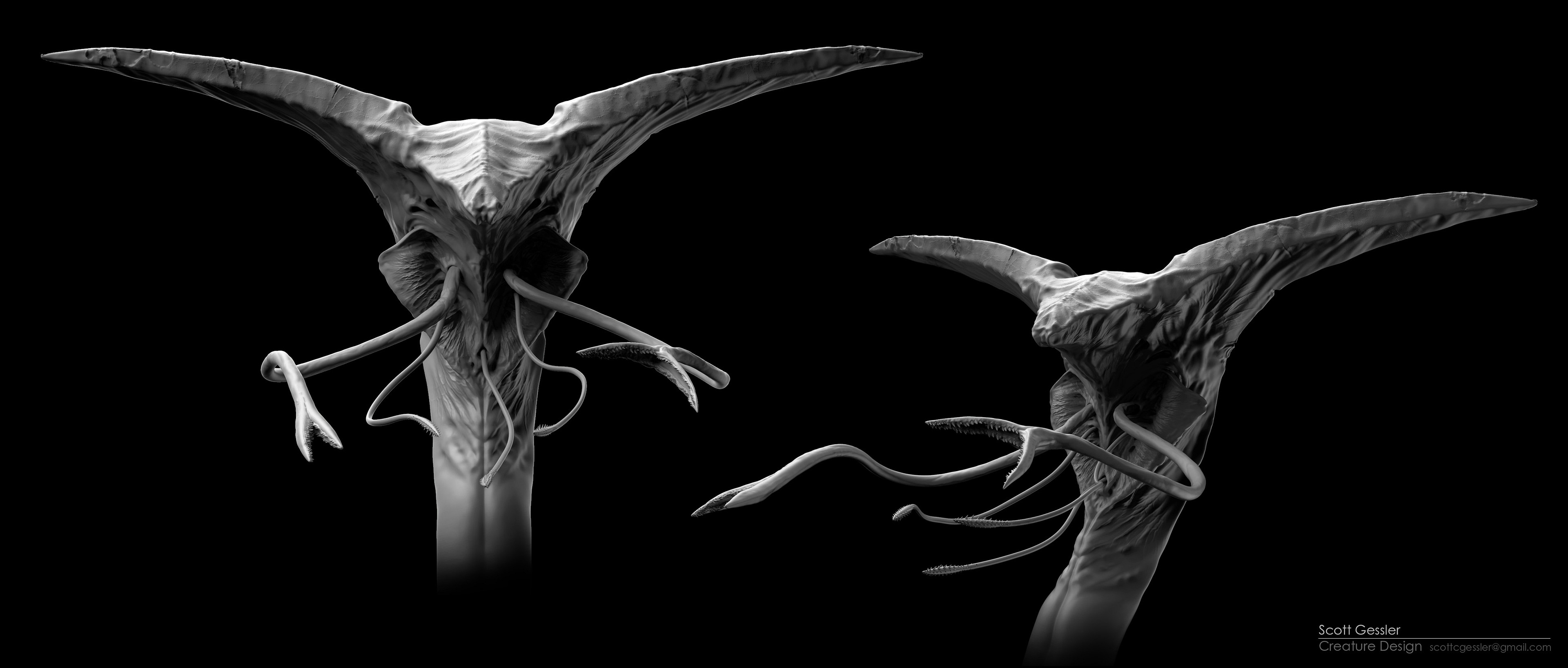 3D model sculpted in zbrush.
