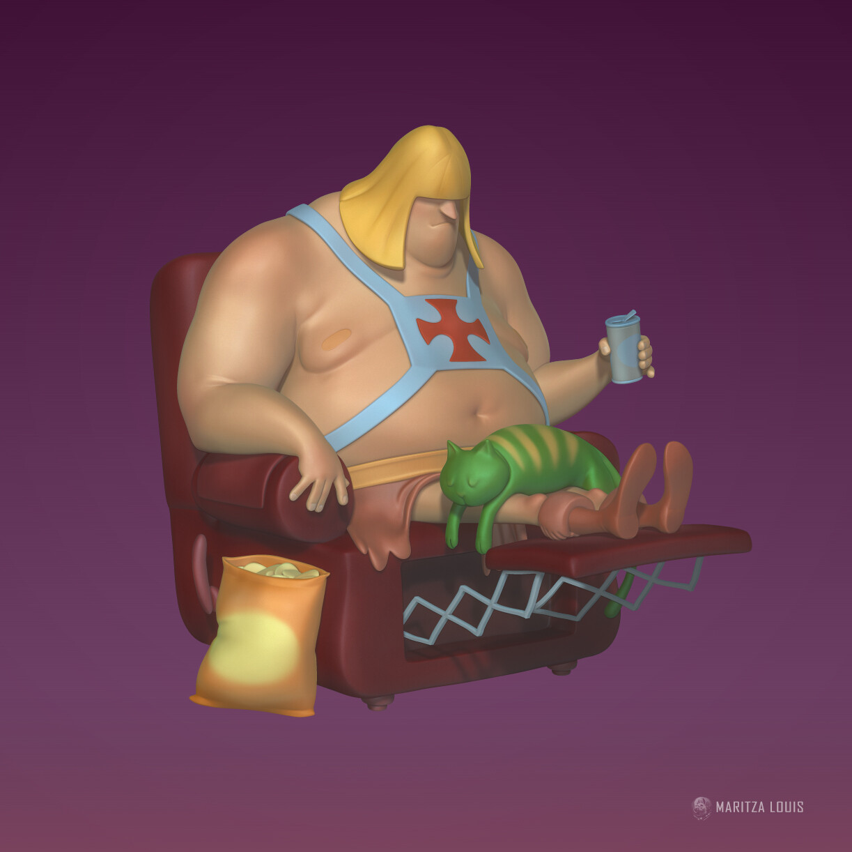 He-Man and Battle Cat sculpt