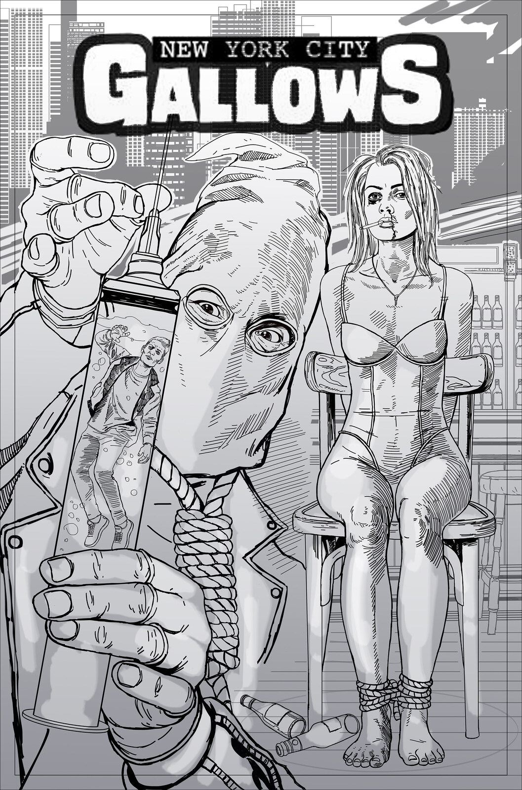 New York City Gallows Issue 2 Cover Art Sketch