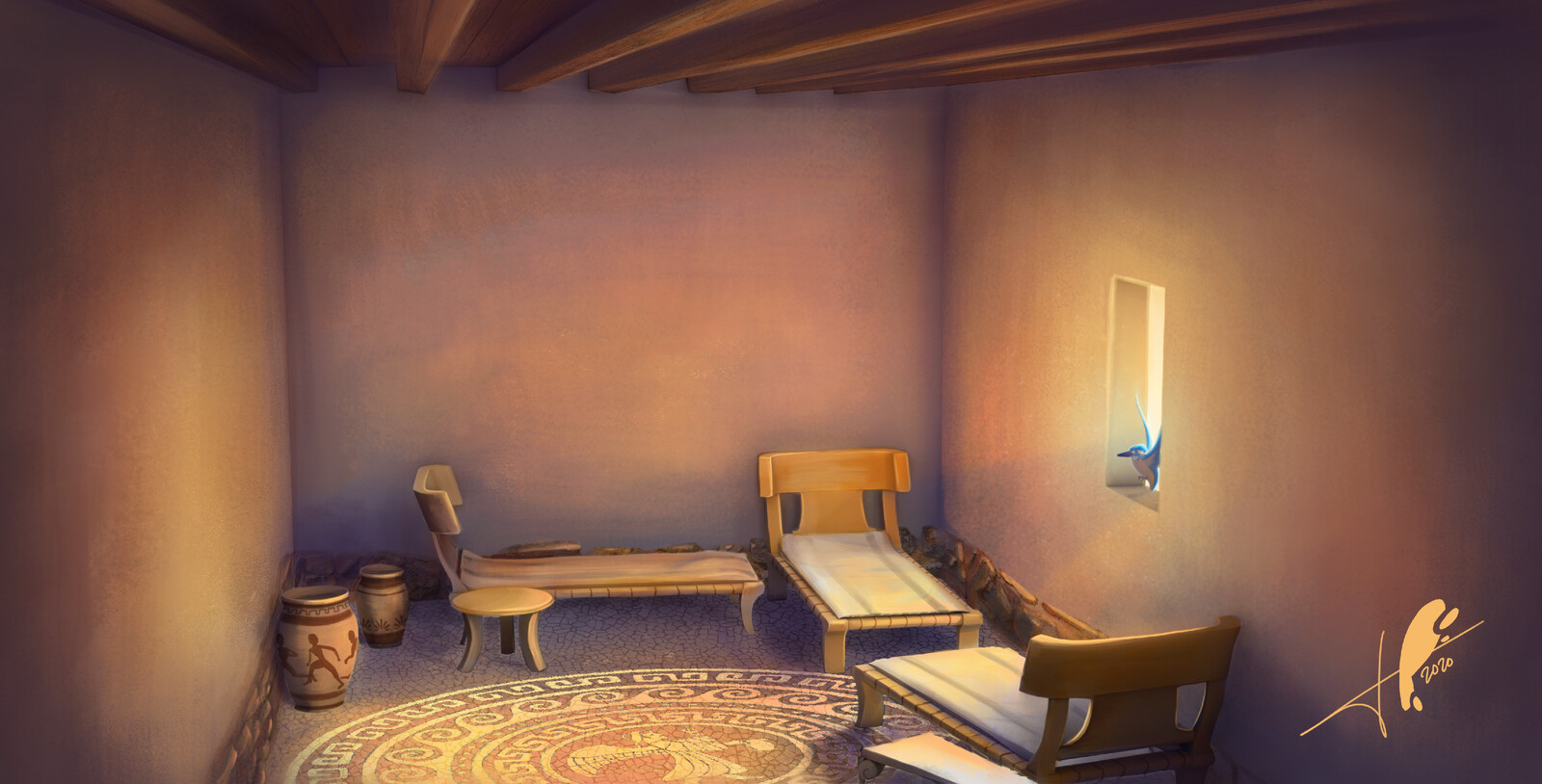 """Ancient Greece room"" -Concept Art"