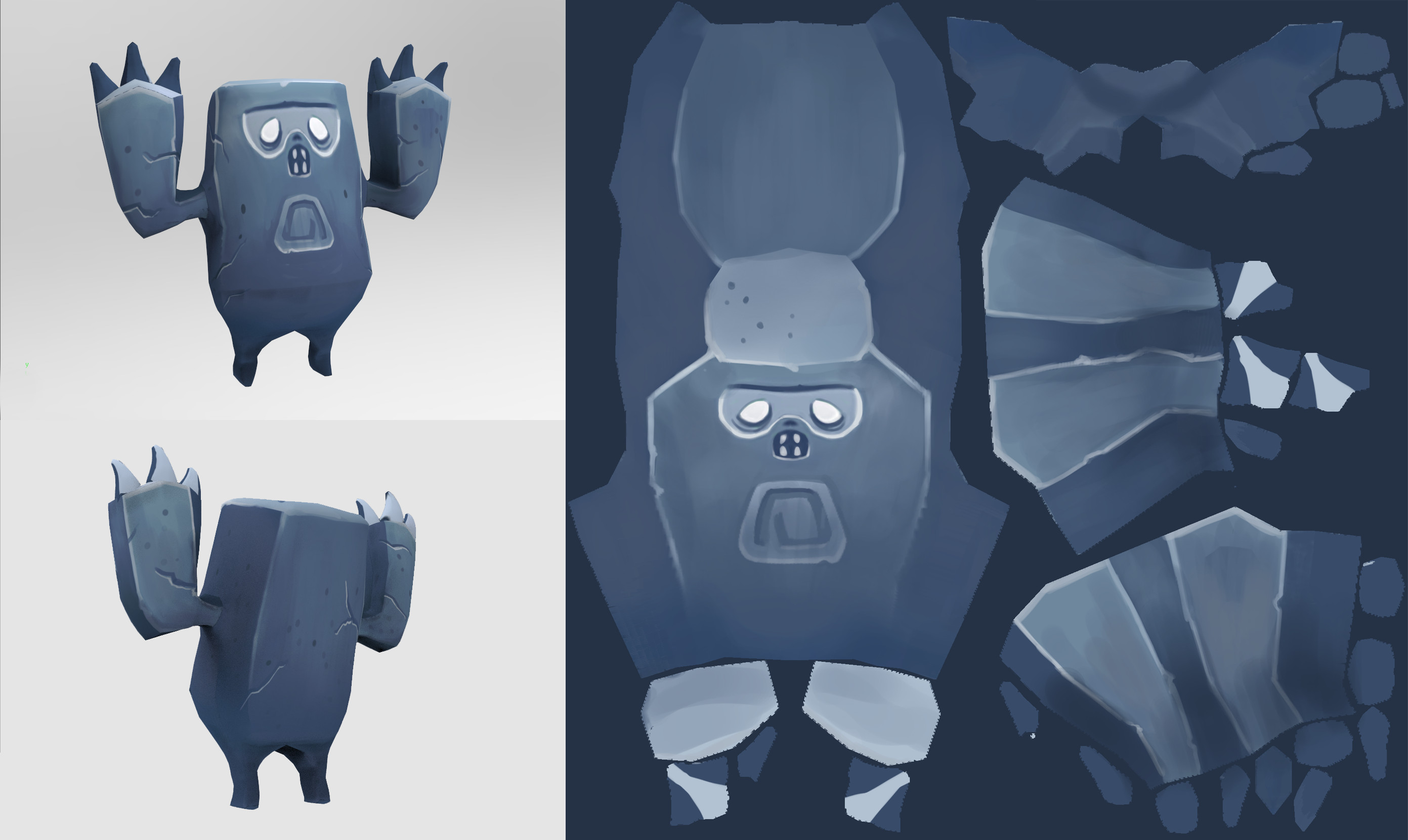 Yeti Statue Model and Texture
