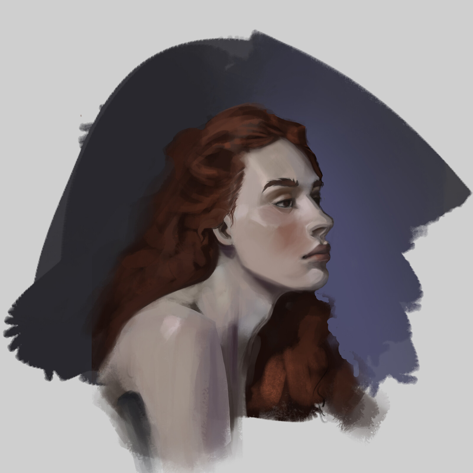 red head  portrait