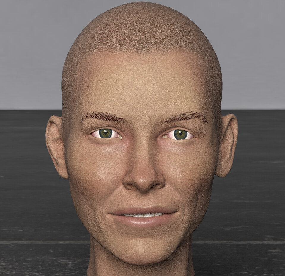 Face texturing in Substance Painter