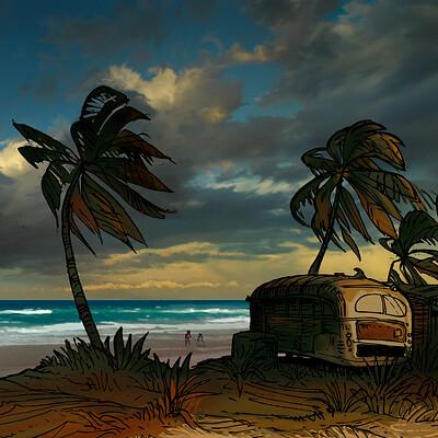 Harald ardeias stormy beach