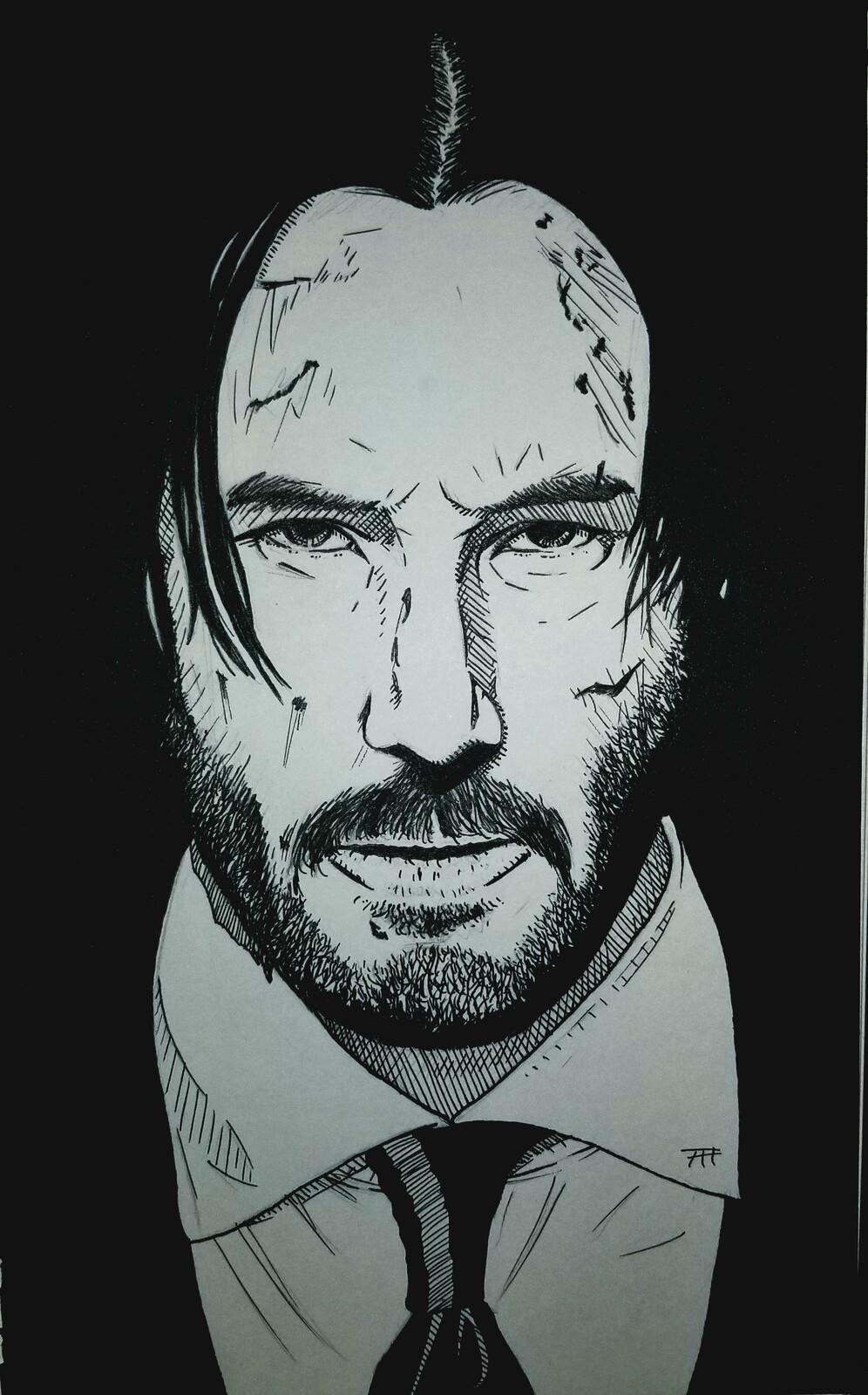 The titular John Wick. Ink.