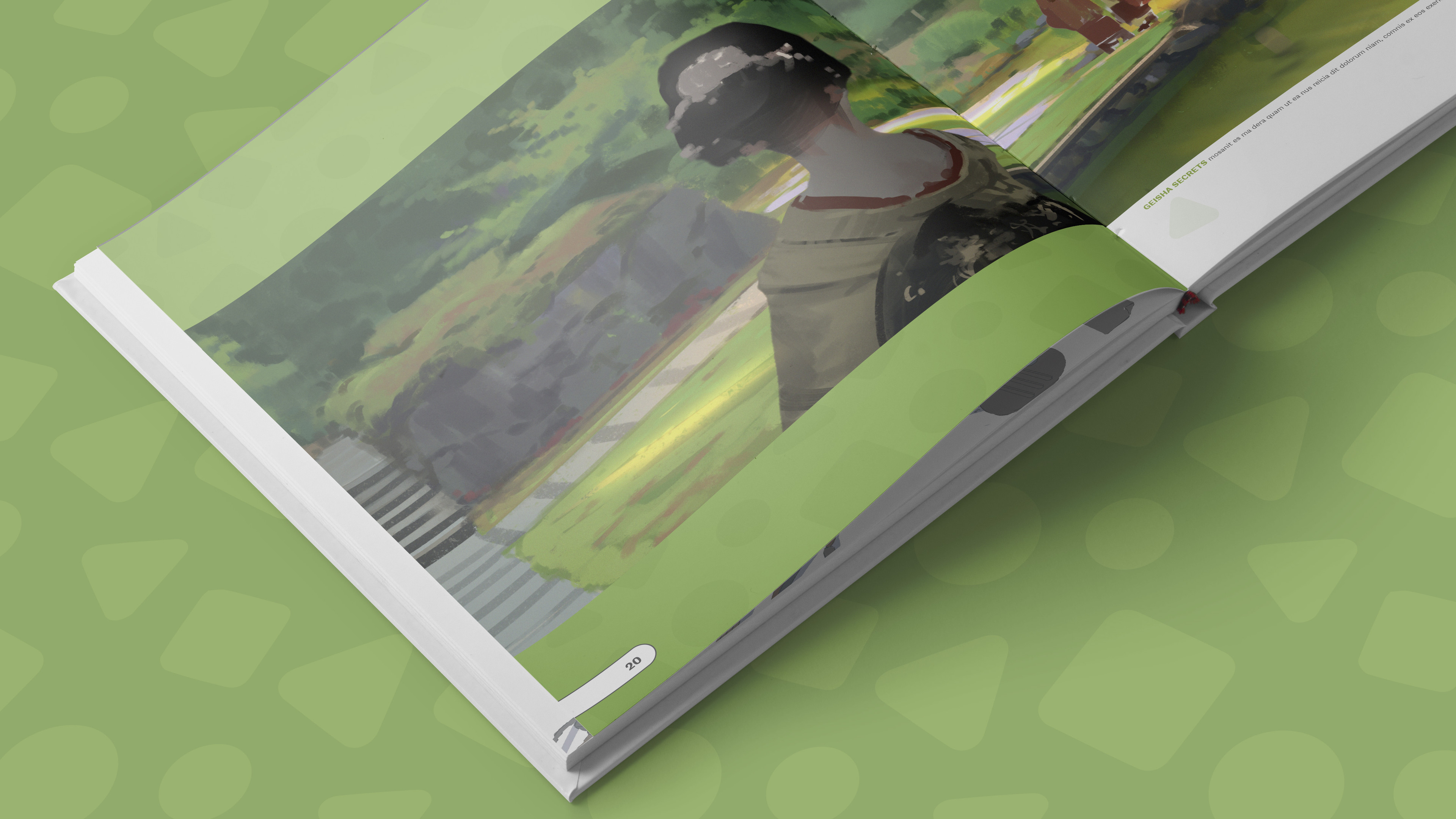Book mockup sample