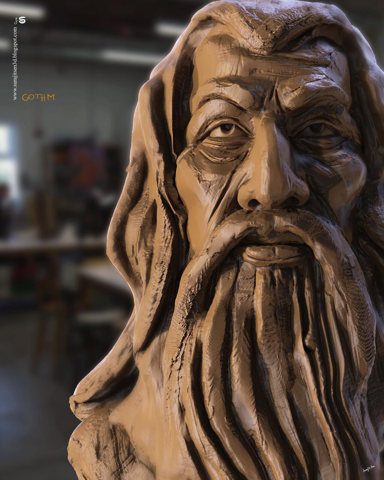 Gothm2.1 Digital Sculpture One of my free time speed Digital Sculptures Background music- #hanszimmermusic
