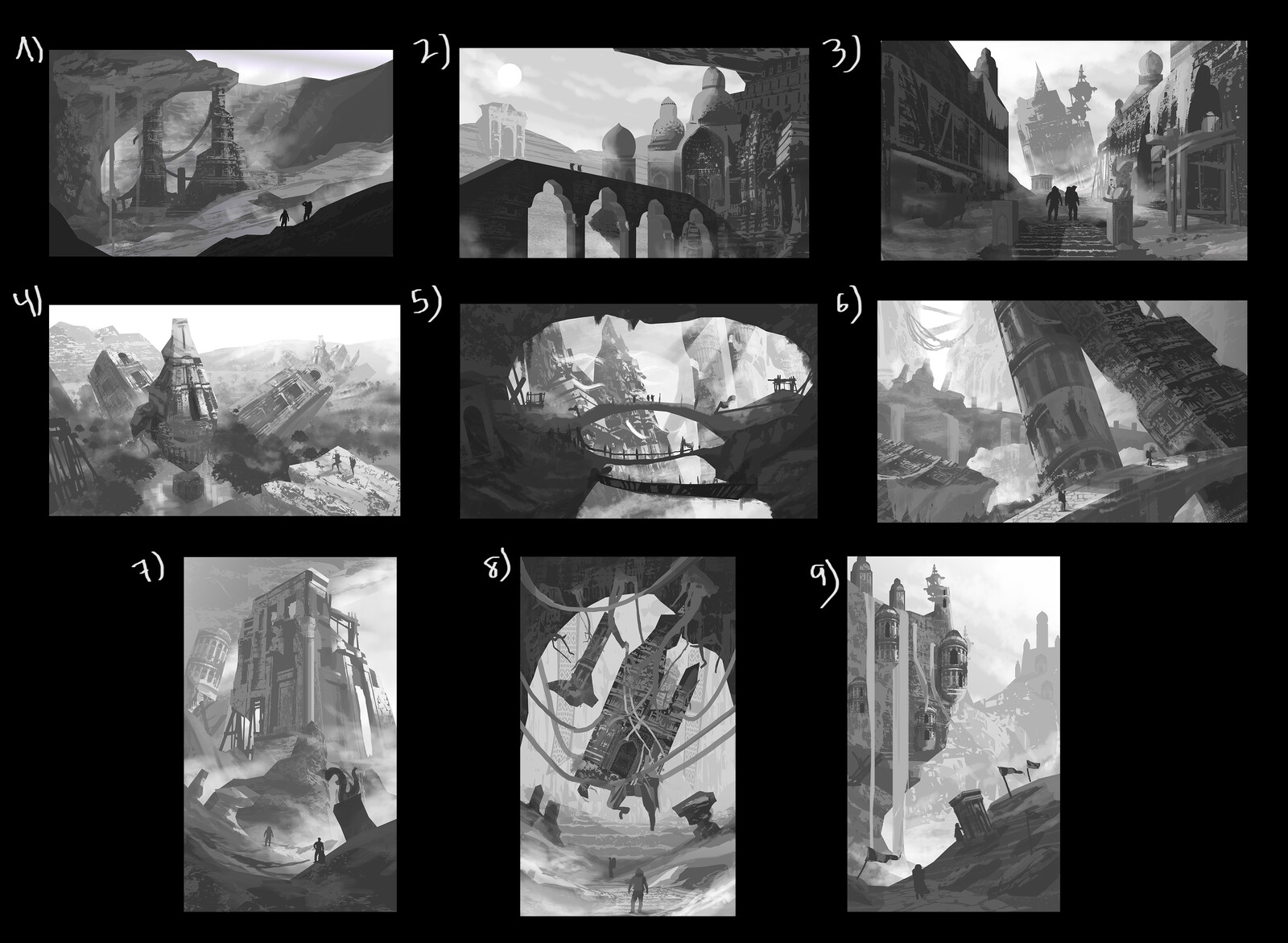 All the thumbnails put in one composition.