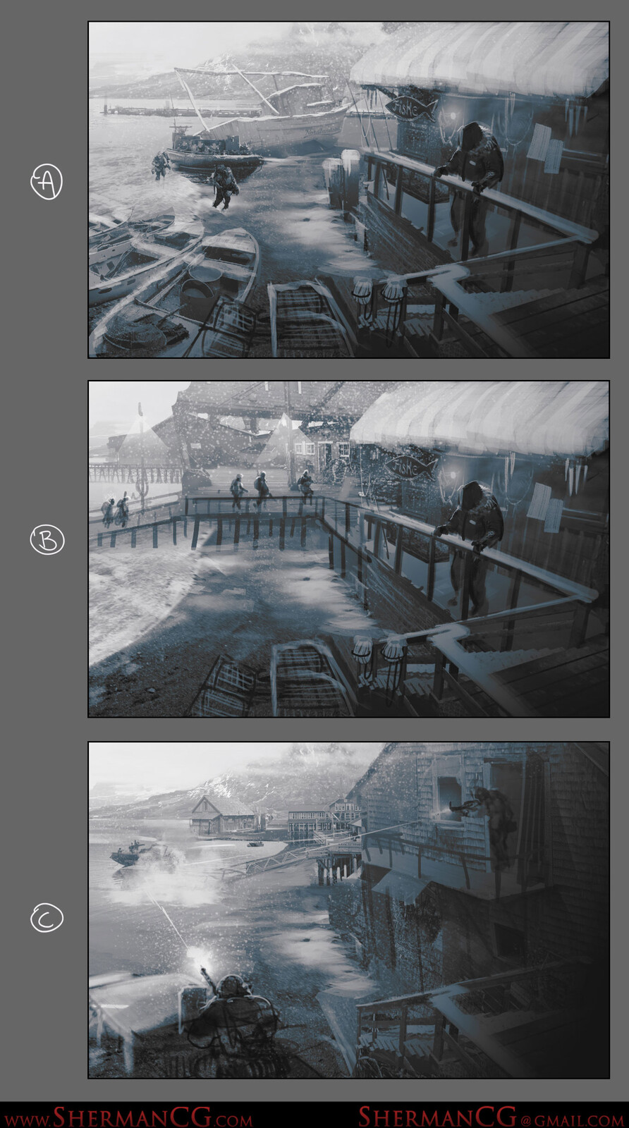 Early thumbnail exploration, mostly used for discussion on what the concept task asks for