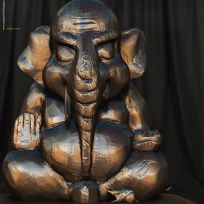 Surajit sen vakratunda digital sculpture surajitsen aug2020aa