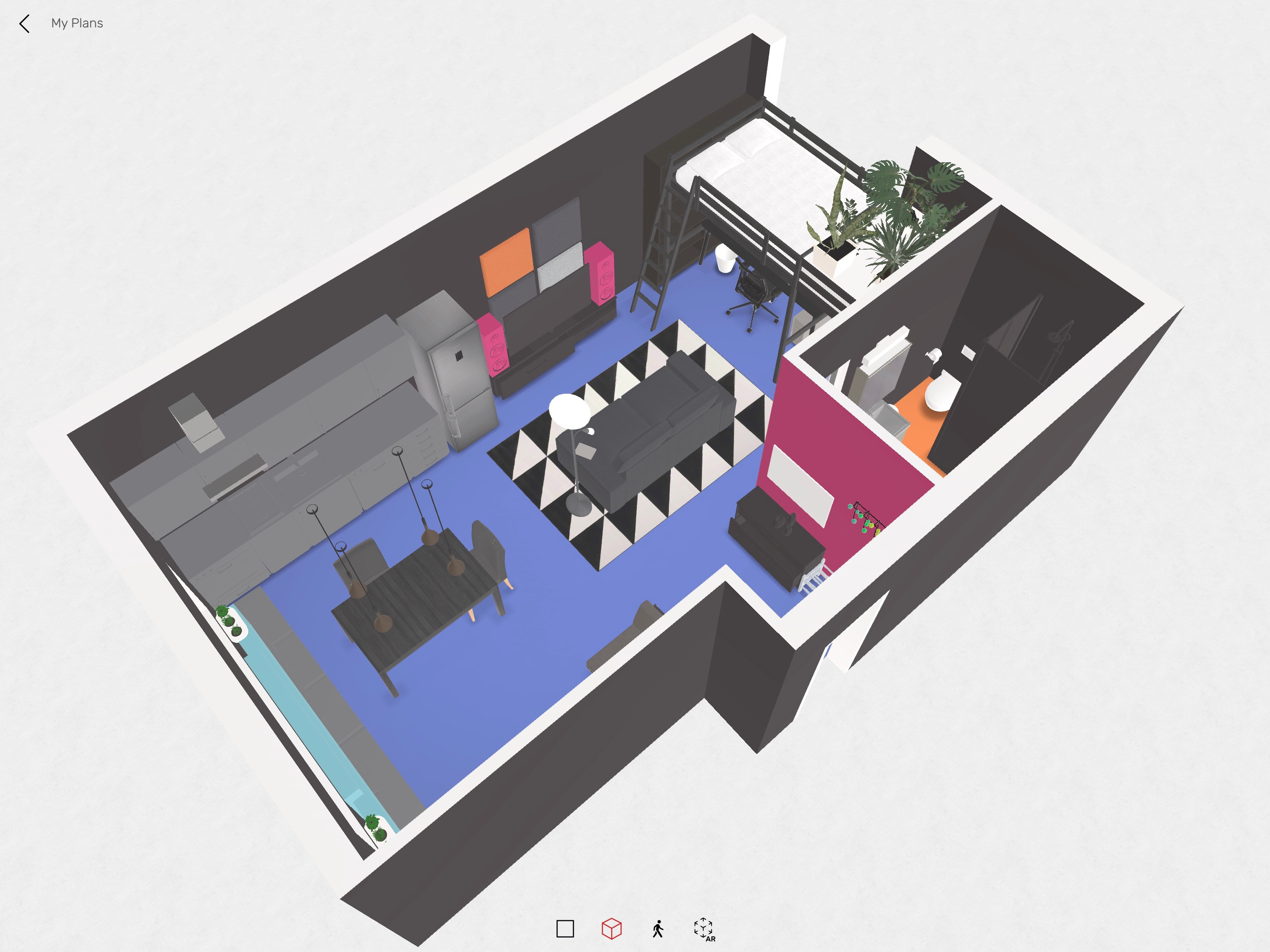 3D model of the apartment, created with Roomle