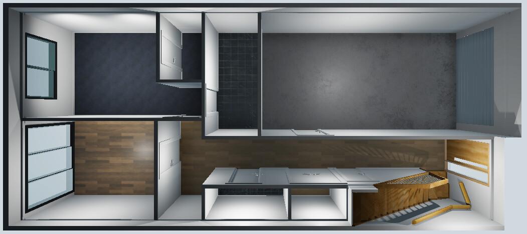 Unity screenshot showing the unit model