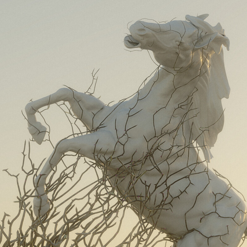 The Evil Bush - Combining Sculpting and Procedural modeling