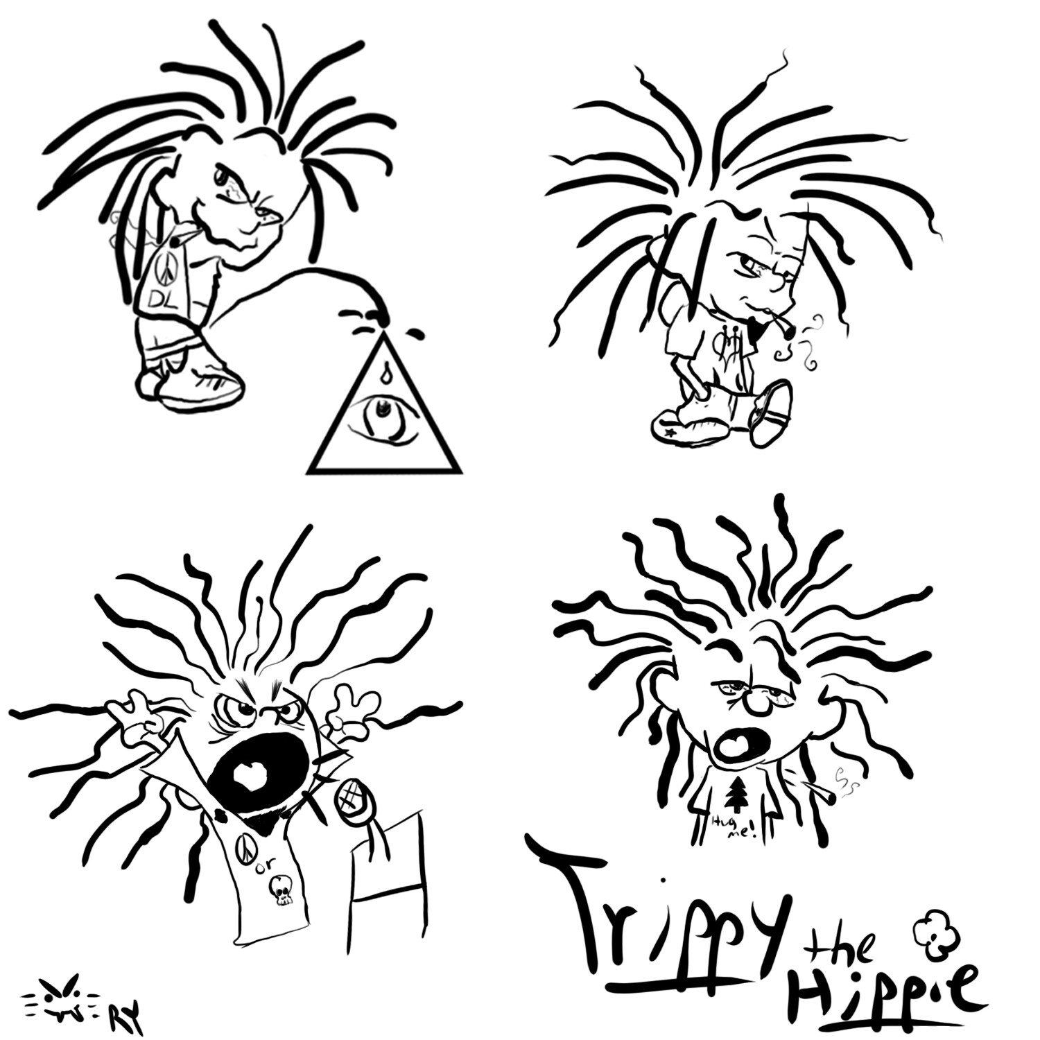 Dread-haired variation of Trippy the Hippy