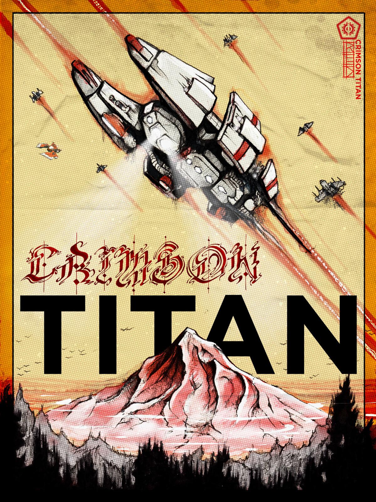 Crimson Titan Poster
