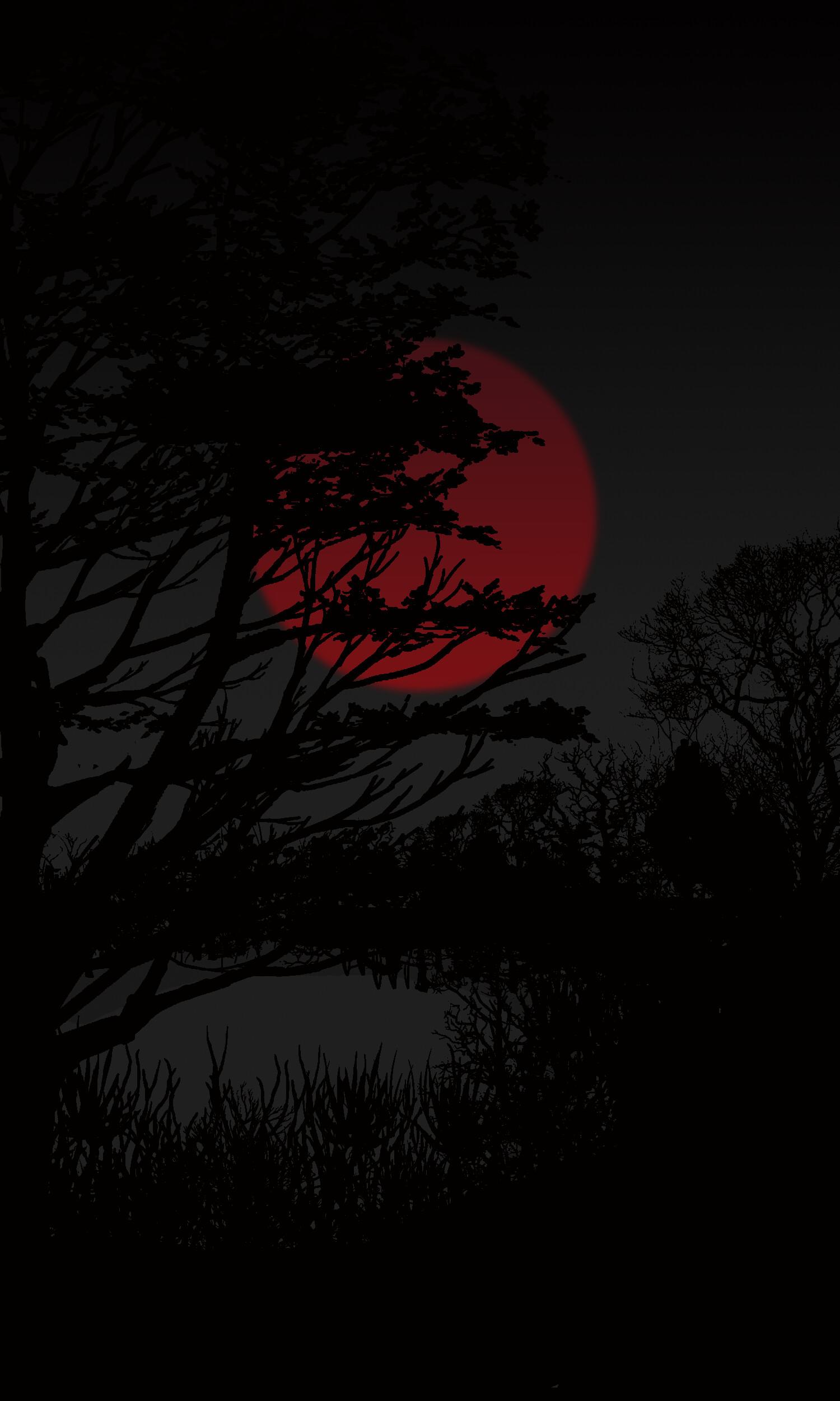 ArtStation   Red moon in Dark, Melissa Johnson