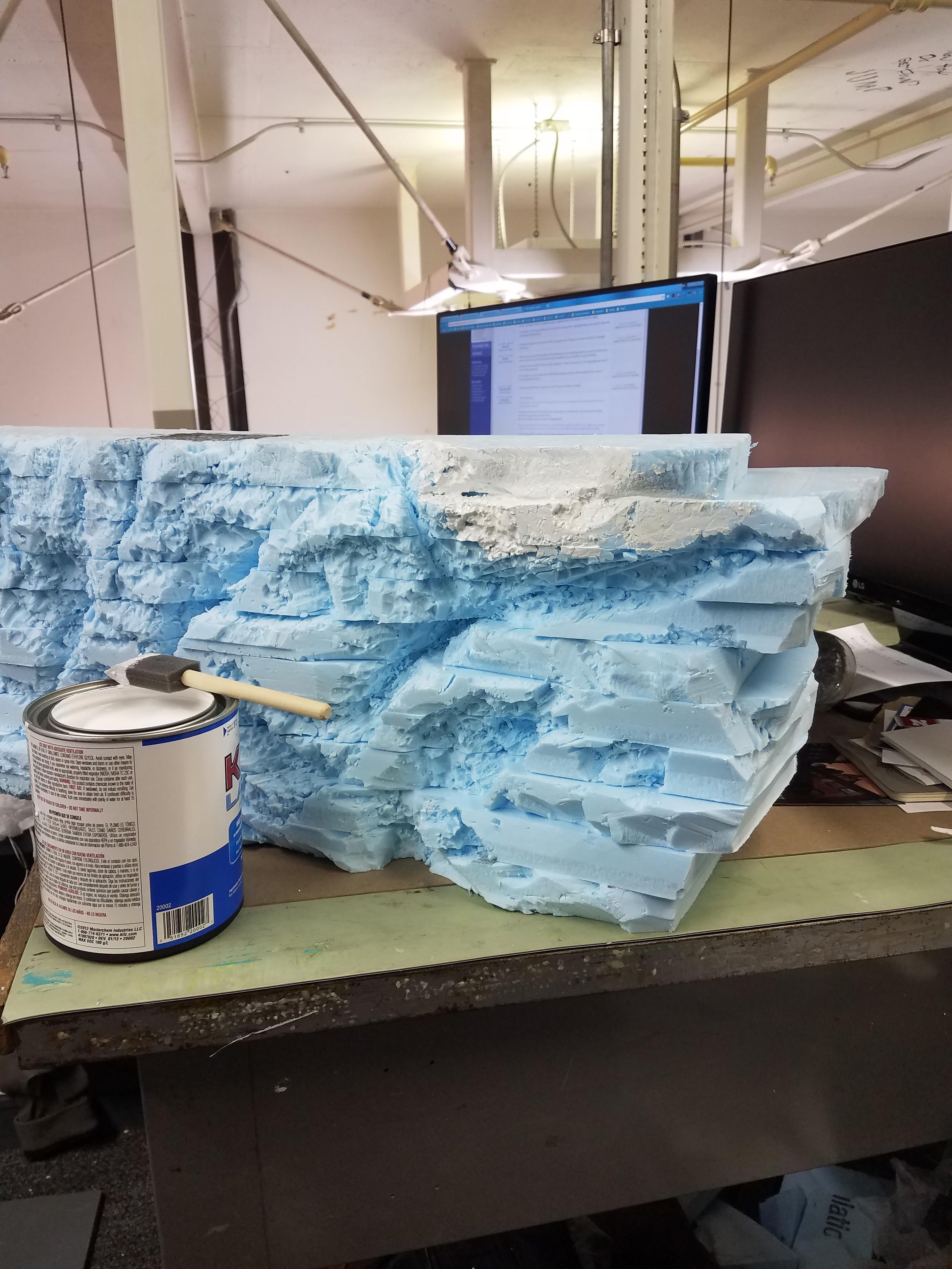 Model Dev - Foam carving & dressing