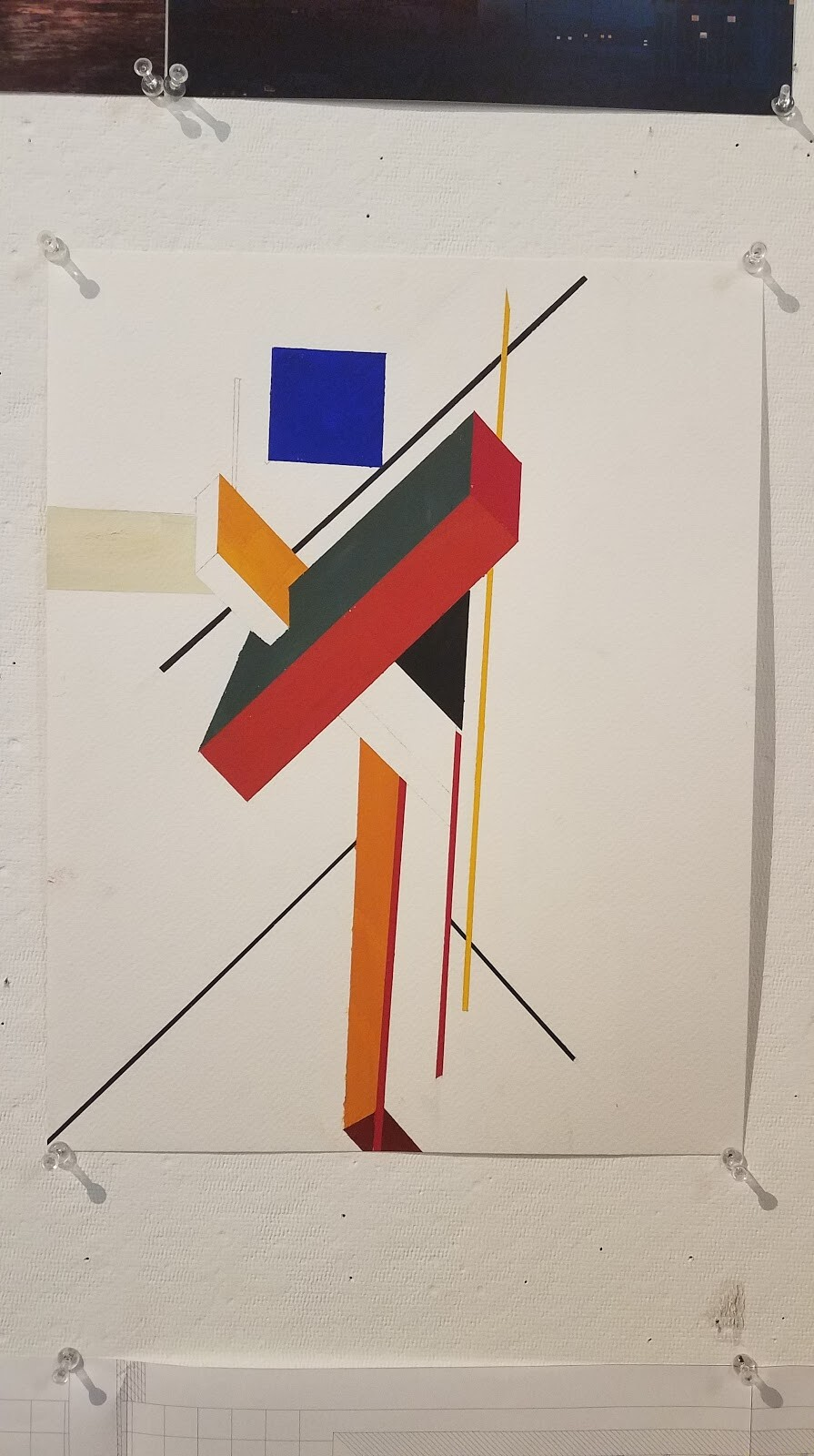 Architecton Paint Study 1 - Studying of principles of EL LISSITZKY & PROUNS