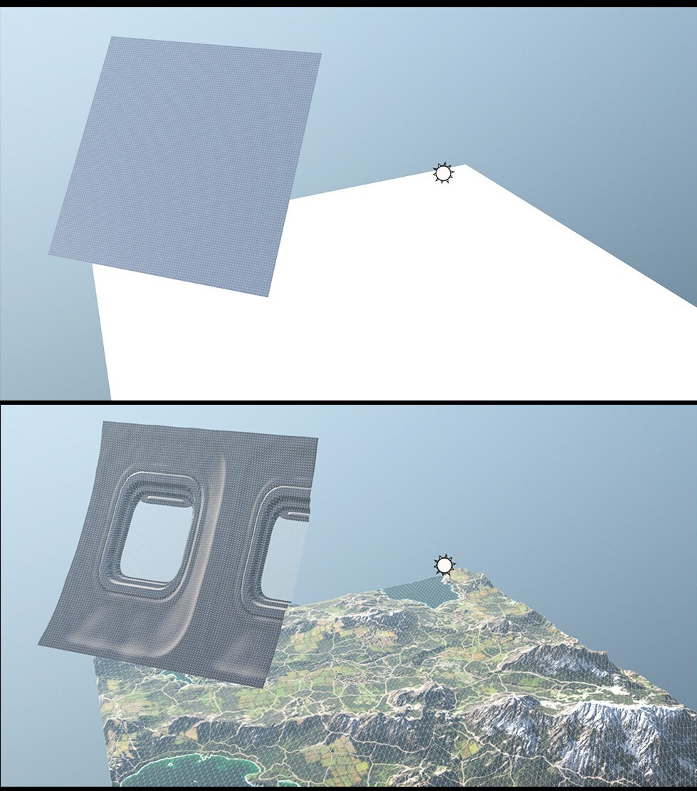 "I'have made  ""two plane/two material challenge"". I created two plane object in Marmoset Toolbag. And  I assigned my plane window material ( https://www.artstation.com/artwork/Ga1NdB) and this alpine material  to planes. And the result..."
