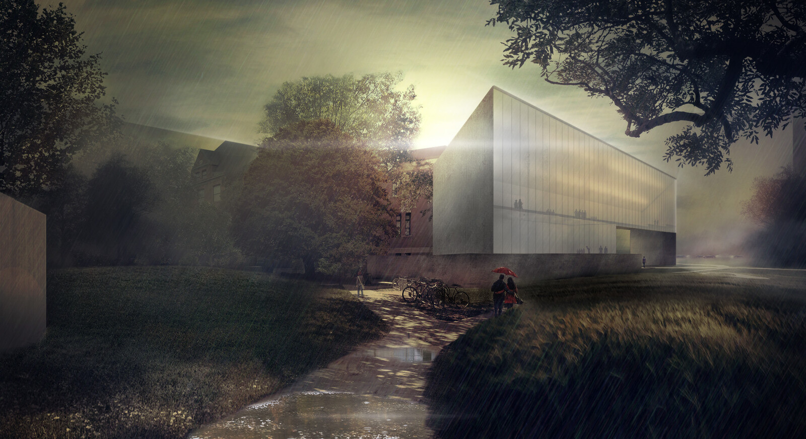REIMAGINING UNL ARCHITECTURE SCHOOL! (Proposal for an Addition - Post Rain Mood)