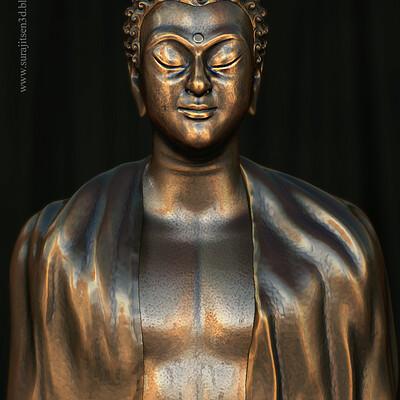 Surajit sen gautam buddha digital sculpture surajit sen aug2020a