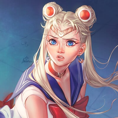 Mioree sailor moon fanart redraw challenge 2020 web h1080p