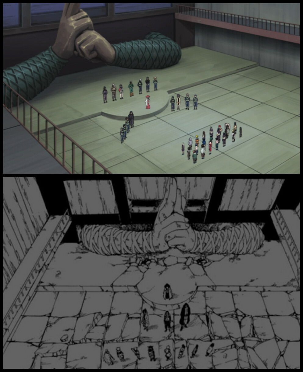 Original Manga & Anime Reference for Chunin Exam Room  All credit to author Masashi Kishimoto & staff for such an amazing anime/manga that has been such a huge part of my life <3 ________________________________