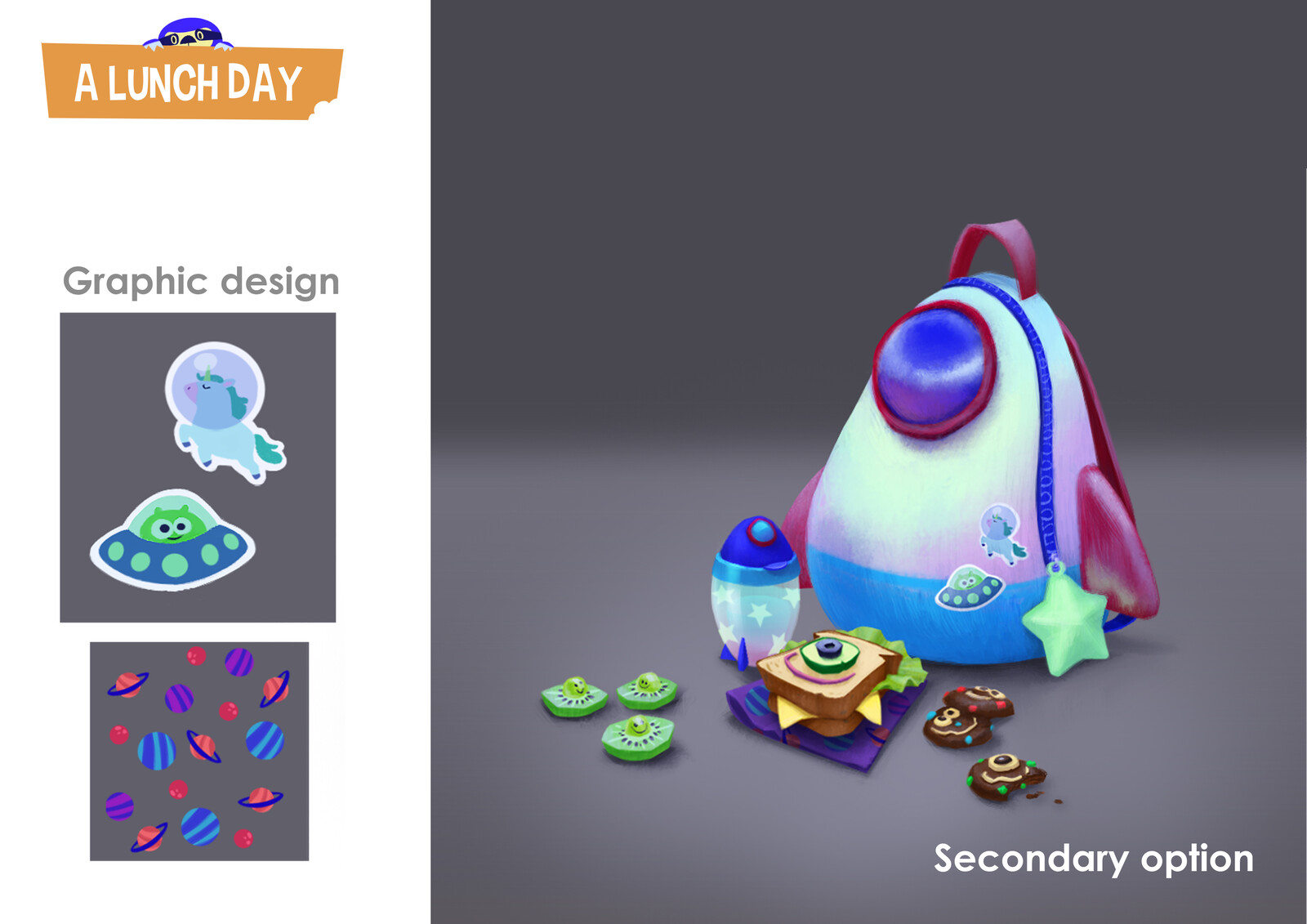 A Lunch Day - prop design option