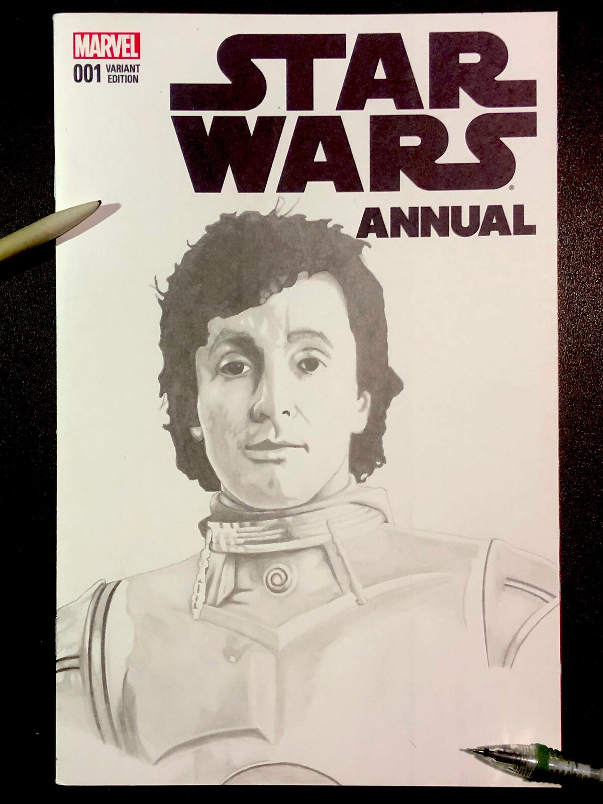 Comic cover art Anthony Daniels