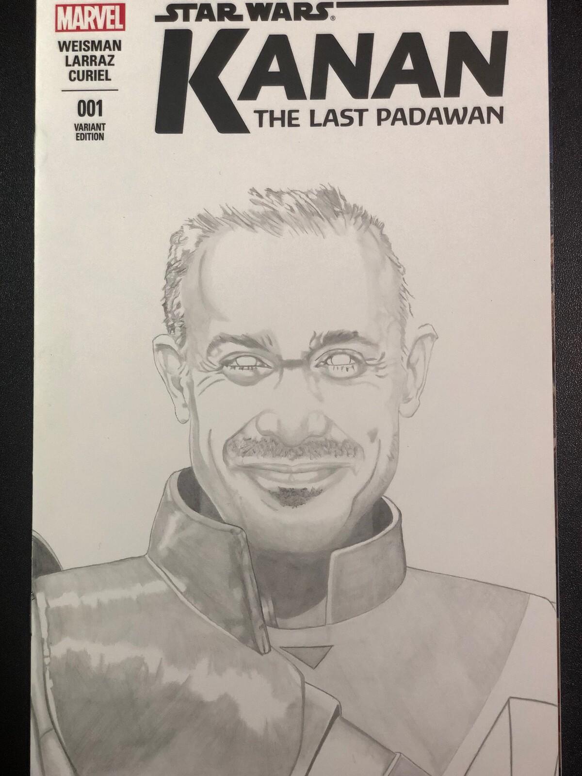 Comic cover art Freddie Prince Jr as Kanan