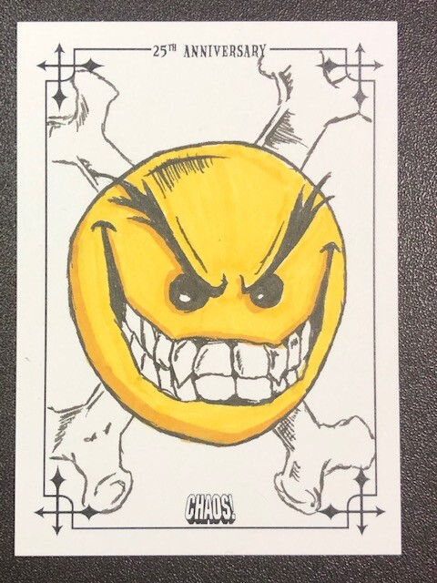 Dynamite Entertainment officially licensed CHAOS! comics 20th Anniversary trading cards