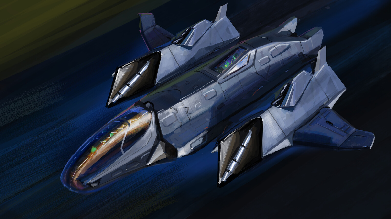 Doublecross - class fighter in flying mode