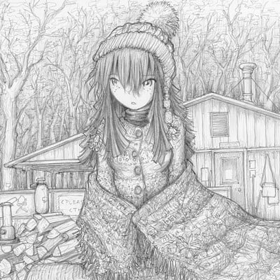Fred gallagher laid back cold weather camping megumi by fredrin dc0pfgw