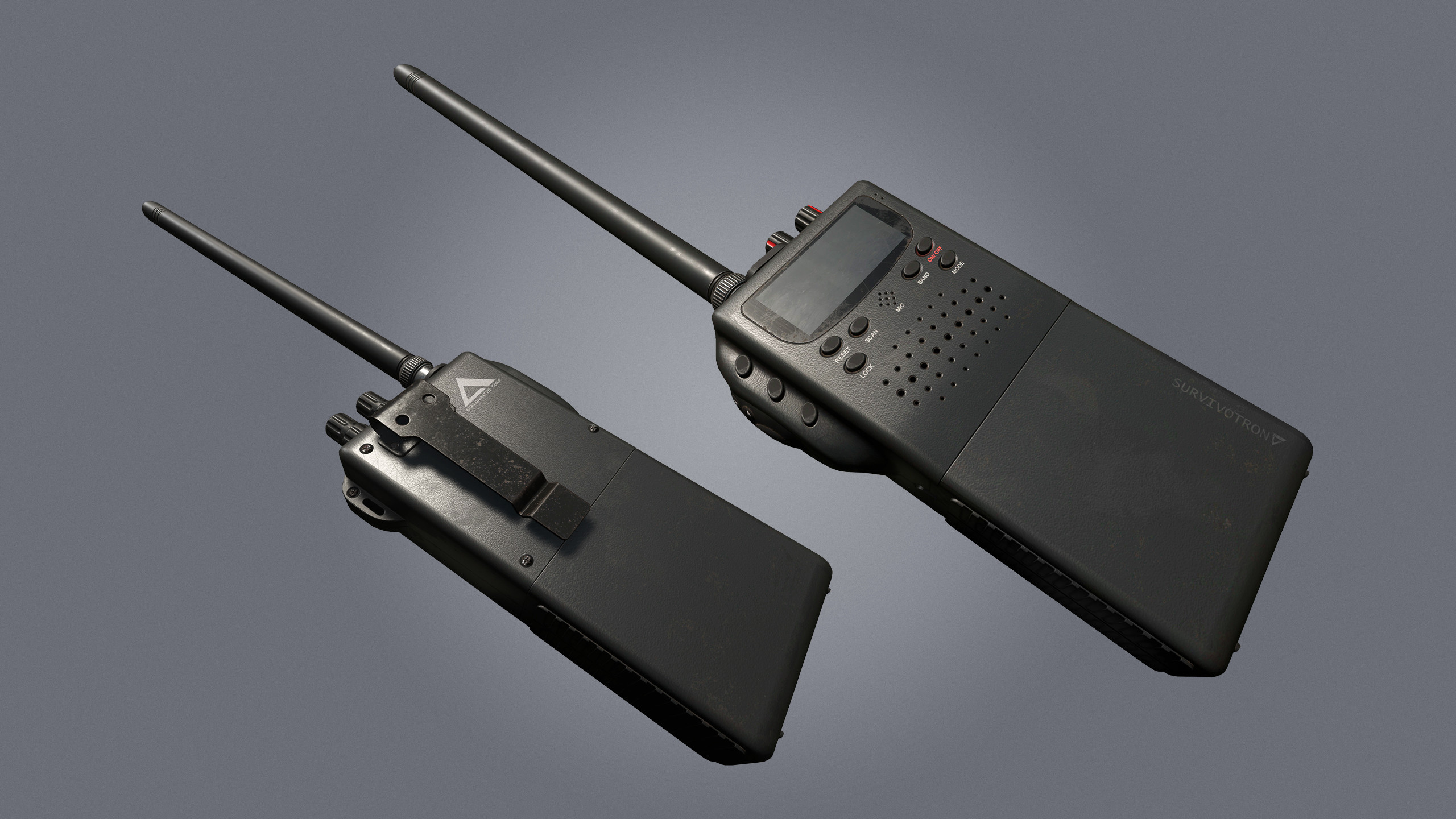 Handheld Radio, used to communicate with other survivors on different channels.